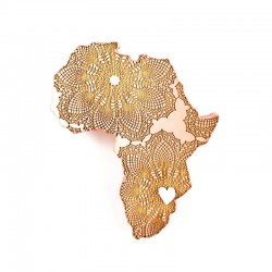 brooch /HEART ♥ OF AFRICA/ coral