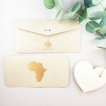 blank card /AFRICA/ gold