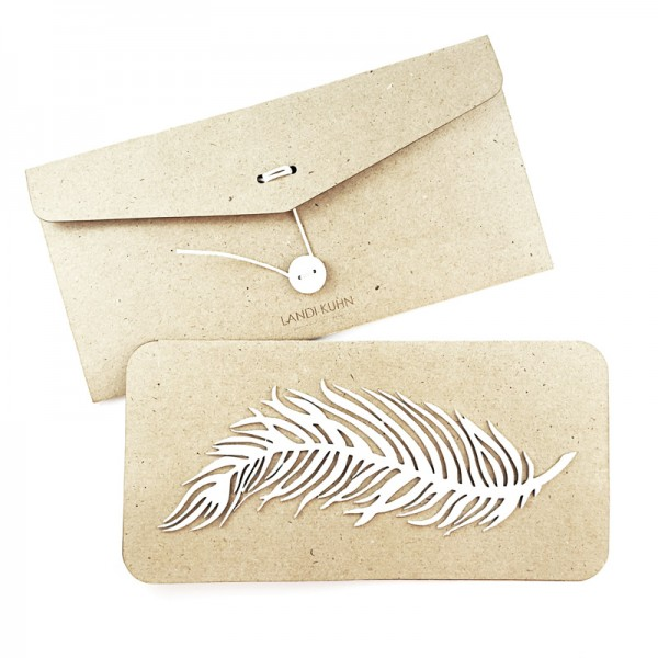 blank card /FEATHER/ white