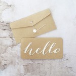 card /HELLO/ white