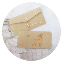 card /OH DEER/ gold