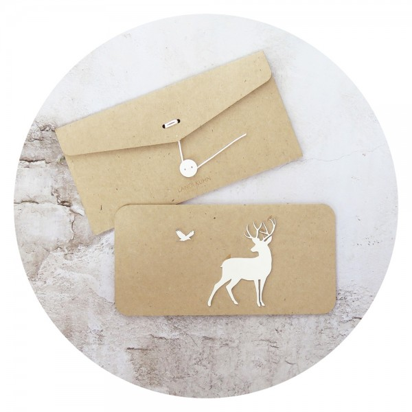 card /OH DEER/ white