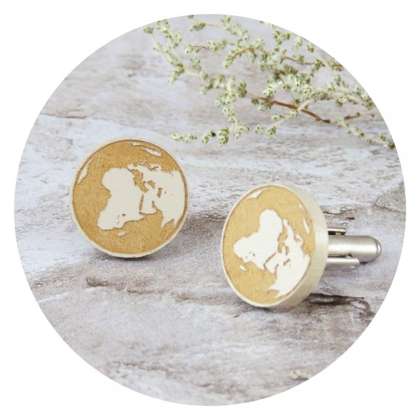 cufflinks /OUR WORLD/ beige