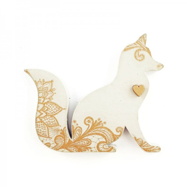 brooch /FANTASTIC MR FOX/ beige