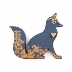 brooch /FANTASTIC MR FOX/ navy