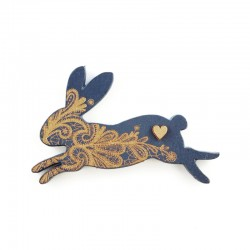 brooch /MRS RABBIT/ navy